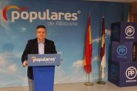 Juan Antonio Moreno, en la sede del PP de Albacete.