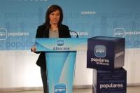 Irene Moreno, en la sede del Partido Popular de Albacete.