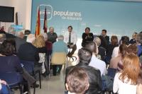 Reunión de trabajo con los afiliados del PP de Albacete capital.