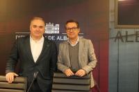 Constantino Berruga y Antonio Martínez, en rueda de prensa.