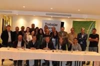Reunión con Tobarra con concejales y simpatizantes.