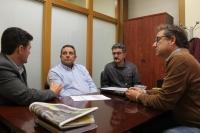 Reunión de representantes de ACAMA con Antonio Martínez y Francisco Navarro.