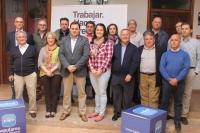 Paco Núñez, con los candidatos del partido judicial de Alcaraz.