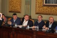 Grupo Popular de la Diputación de Albacete, durante el Pleno celebrado este jueves.