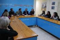 Reunión del presidente del PP, Francisco Núñez, y la diputada nacional Carmen Navarro, con el PP de Hellín.