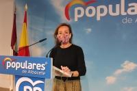 Carmen Navarro, en la sede provincial del PP de Albacete.