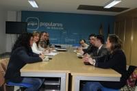 Reunión de la Comisión Provincial de Empleo del PP de Albacete.