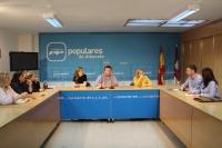 Reunión de la Comisión Provincial de Sanidad del PP de Albacete.