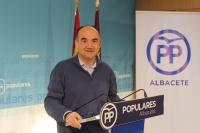 Valentín Bueno, en la sede provincial del PP de Albacete.