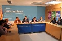 Reunión del comité de dirección del PP, presidido por Francisco Núñez.