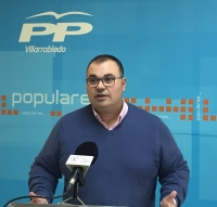Bernardo Ortega, en la sede del PP de Villarrobledo