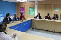 Un momento de la reunión en la sede del PP.