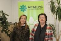 Carmen Navarro y la presidenta de AFAEPS, Isabel Serra.