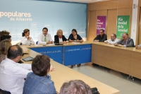 Reunión del comité de dirección del PP de Albacete y cargos públicos.