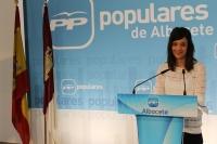 María Delicado, en la sede del PP de Albacete.