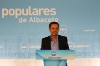 Antonio Martínez, en la sede provincial del PP.