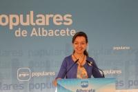 Inmaculada López, en la sede del PP.