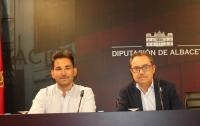 José Luis Vidal y Antonio Martínez, en la sala de Prensa de la Diputación Provincial de Albacete.