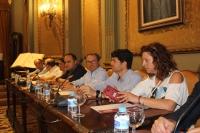 El portavoz del Grupo Poular, Antonio Martínez, durante el Pleno celebrado esta martes.