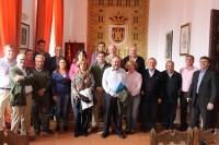 Reunión en Alcaraz, con la alcaldesa Lourdes Cano como anfitrional.
