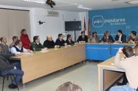 Reunión de la comisión de Agricultura en la sede provincial.