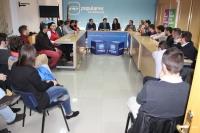 Reunión con los jóvenes de NNGG en la sede provincial.