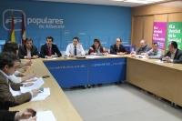 Reunión del comité de campaña del PP de Albacete.