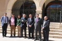 Lo senadores del PP, en La Roda.