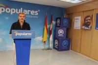 El senador electo, Ramón Rodríguez, en la sede del PP de Albacete.