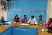 Reunión del comité de campaña del PP en Hellín.