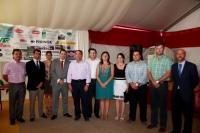 Francisco Núñez y Javier Cuenca con la Corporación y miembros del PP de Villarrobledo.