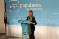 Inmaculada López, en la sede provincial del PP.
