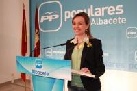 Inmaculada López en rueda de prensa.