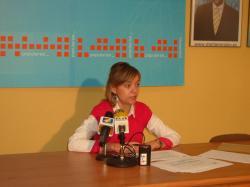 Inmaculada López, en la sede del PP de La Roda.
