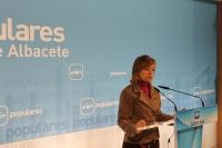 Inmaculada López, en la sede del PP de Albacete