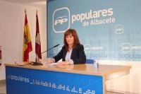 Irene Moreno, en la sede provincial del PP.