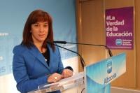 Irene Moreno en rueda de prensa.