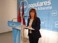 Irene Moreno en la sede del PP de Albacete.