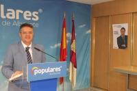 Juan Antonio Moreno, en la sede provincial del PP de Albacete.