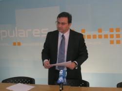José Luis Teruel, en la sede del PP de Albacete.