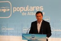 José Luis Teruel, en la sede provincial del PP.