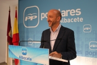 Juan Marcos Molina en rueda de prensa.