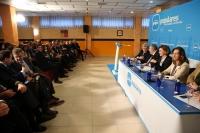 Reunión de la junta directiva del PP de Castilla-La Mancha en Azqueca de Henares.