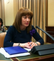 Irene Moreno durante el debate de esta iniciativa en la Comisión de Defensa del Congreso de los Diputados