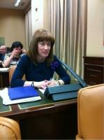 Comparecencia de Irene Moreno en el Congreso.