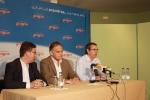 Marcial Marín, González Pons y Vicente Aroca.