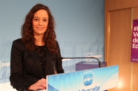 María Delicado en rueda de prensa.