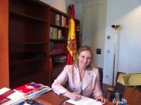 La diputada Maravillas Falcón en su despacho en el Congreso.