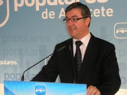 Marcial Marín, en la sede provincial PP.