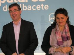 Marcial Marín y Cesárea Arnedo, en la sede provincial.
